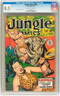 Golden Age (1938-1955):Adventure, Jungle Comics #109 (Fiction House, 1949) CGC VF+ 8.5 Off-white to white pages....