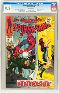 The Amazing Spider-Man #59 (Marvel, 1968) CGC NM- 9.2 Off-white pages