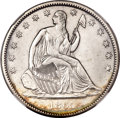 Seated Half Dollars, 1865-S 50C MS62 NGC. WB-102....