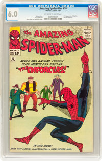 The Amazing Spider-Man #10 (Marvel, 1964) CGC FN 6.0 Off-white to white pages