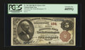 National Bank Notes:Vermont, North Bennington, VT - $5 1882 Brown Back Fr. 466 The First NB Ch. # 194. ...