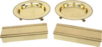 Lucille Ball's Brass Cigarette Boxes and Ashtrays