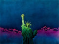 Mainstream Illustration, STEVE BAGINSKI (American, 20th Century). Liberty Enlighteningthe World,. Acrylic on board. 29 x 38.5 in.. Not signed. ...