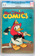 Golden Age (1938-1955):Cartoon Character, Walt Disney's Comics and Stories #3 (Dell, 1940) CGC VG- 3.5 Cream to off-white pages....