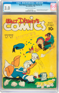 Walt Disney's Comics and Stories #2 (Dell, 1940) CGC GD/VG 3.0 Cream to off-white pages