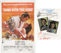 Movie/TV Memorabilia:Autographs and Signed Items, Gone With the Wind Cast-Signed Poster and Program Book....(Total: 2 Items)