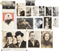 Movie/TV Memorabilia:Memorabilia, Laurel and Hardy, Jayne Mansfield, Betty Grable, and Others VintagePhotographs.... (Total: 16 Items)