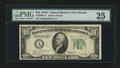 Fr. 2008-A* $10 1934C Wide Federal Reserve Star Note. PMG Very Fine 25