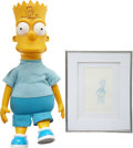 Movie/TV Memorabilia:Autographs and Signed Items, The Simpsons - Matt Groening Signed Bart Doll withSketch.... (Total: 2 Items)