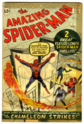 Silver Age (1956-1969):Superhero, The Amazing Spider-Man #1 (Marvel, 1963) Condition: GD....