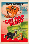 "Movie Posters:Animation, Cat Nap Pluto (RKO, 1948). One Sheet (27"" X 41"").. ..."