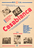 "Movie Posters:Academy Award Winners, Casablanca (Warner Brothers, Late 1940s). First Post-War Austrian (24"" X 34"").. ..."