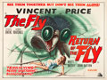 "Movie Posters:Science Fiction, The Fly/ Return of the Fly (20th Century Fox, R-1960's). BritishQuad (30"" X 40"").. ..."