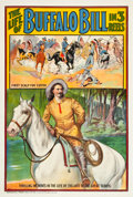 """Movie Posters:Western, The Life of Buffalo Bill (Pawnee Bill Film Co., 1912). One Sheet (27"""" X 41"""").. ..."""
