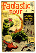 Silver Age (1956-1969):Superhero, Fantastic Four #1 (Marvel, 1961) Condition: FR/GD....