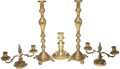 Movie/TV Memorabilia:Memorabilia, Lucille Ball's Brass Candlesticks.... (Total: 5 Items)