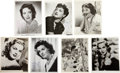 Movie/TV Memorabilia:Autographs and Signed Items, Linda Darnell, Dorothy Lamour, and Others Actress-Signed Photos.... (Total: 7 Items)