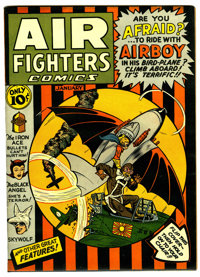 Air Fighters Comics #4 (Hillman Fall, 1943) Condition: Apparent VF/NM Moderate (P)