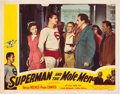 "Movie Posters:Action, Superman and the Mole Men (Lippert, 1951). Lobby Card (11"" X 14"").. ..."
