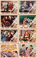 "Movie Posters:Sports, The Sport Parade (RKO, 1932). Lobby Card Set of 8 (11"" X 14"").. ...(Total: 8 Items)"