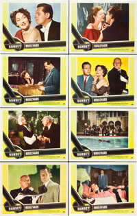 "Sunset Boulevard (Paramount, 1950). Lobby Card Set of 8 (11"" X 14""). ... (Total: 8 Posters)"