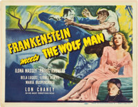 "Frankenstein Meets the Wolf Man (Universal, 1943). Title Lobby Card (11"" X 14"")"