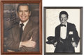 Movie/TV Memorabilia:Autographs and Signed Items, Milton Berle Inscribed and Signed Photos to Lucille Ball and GaryMorton.... (Total: 2 Items)