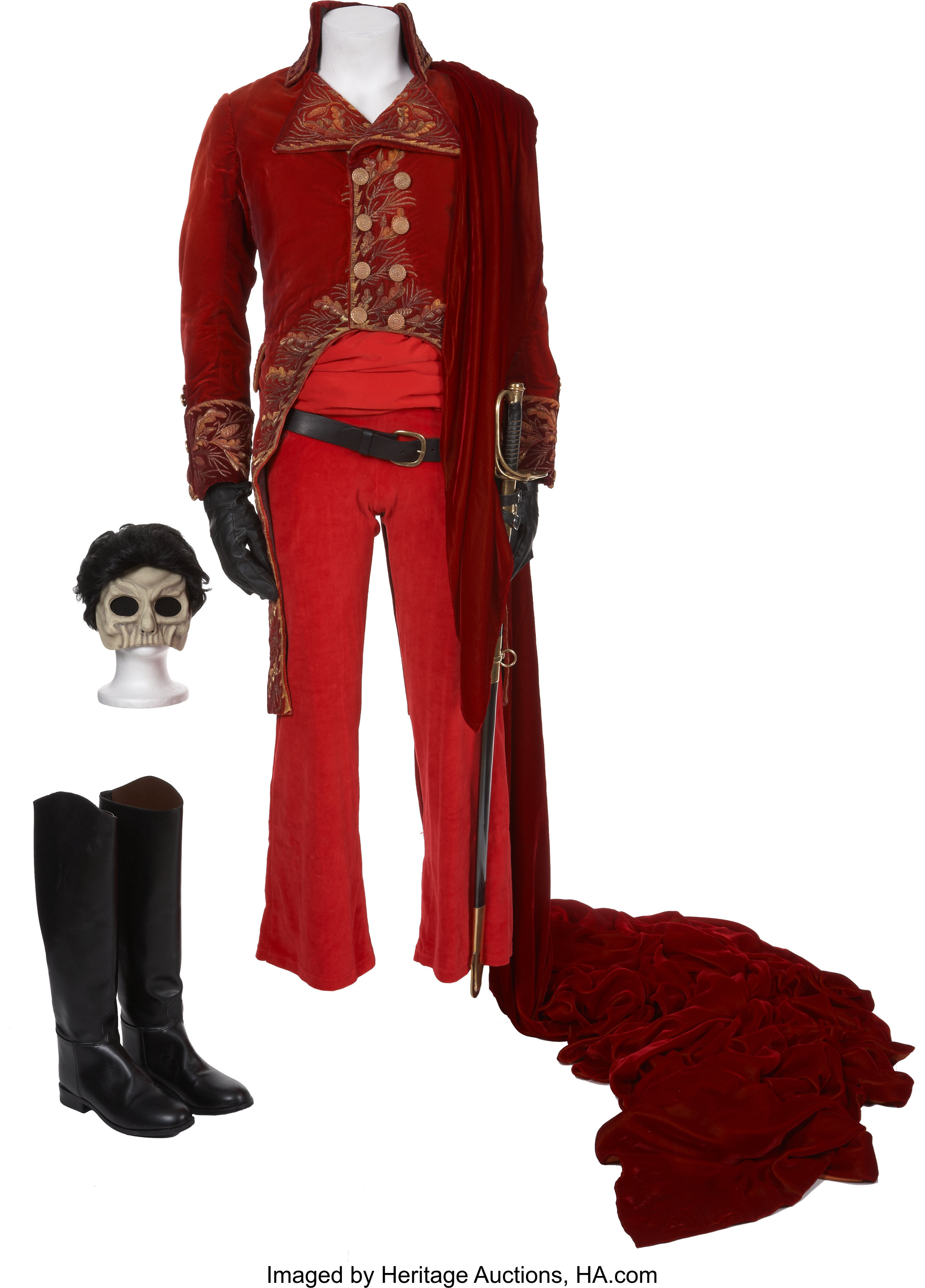 The Phantom Of The Opera Gerard Butler S Red Death Masquerade Lot 49429 Heritage Auctions