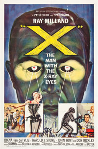 """X - The Man With the X-Ray Eyes (American International, 1963). One Sheet (27"""" X 41"""")"""