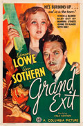 "Movie Posters:Mystery, Grand Exit (Columbia, 1935). One Sheet (27"" X 41"").. ..."