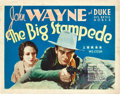 """Movie Posters:Western, The Big Stampede (Vitagraph, 1932). Title Lobby Card (11"""" X 14"""")....."""