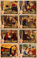 "Movie Posters:Western, Justice of the Range (Columbia, 1935). Lobby Card Set of 8 (11"" X 14"").. ... (Total: 8 Posters)"