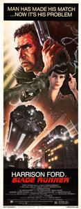 """Movie Posters:Science Fiction, Blade Runner (Warner Brothers, 1982). Insert (14"""" X 36"""").. ..."""