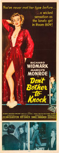 """Movie Posters:Thriller, Don't Bother to Knock (20th Century Fox, 1952). Insert (14"""" X 36"""").. ..."""