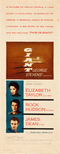 "Movie Posters:Drama, Giant (Warner Brothers, 1956). Insert (14"" X 36""). Drama.. ..."