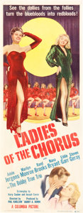 "Movie Posters:Comedy, Ladies of the Chorus (Columbia, 1948). Insert (14"" X 36"").. ..."
