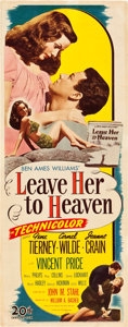 "Movie Posters:Film Noir, Leave Her to Heaven (20th Century Fox, 1945). Insert (14"" X 36"").. ..."