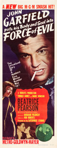 """Movie Posters:Film Noir, Force of Evil (MGM, 1948). Insert (14"""" X 36"""").. ..."""
