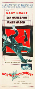 """Movie Posters:Hitchcock, North by Northwest (MGM, 1959). Insert (14"""" X 36"""").. ..."""