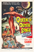 """Movie Posters:Science Fiction, Queen of Outer Space (Allied Artists, 1958). One Sheet (27"""" X41"""").. ..."""