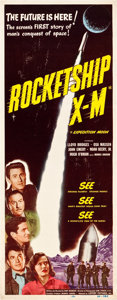 "Movie Posters:Science Fiction, Rocketship X-M (Lippert, 1950). Insert (14"" X 36"").. ..."