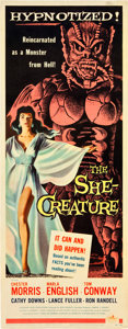 "Movie Posters:Science Fiction, The She-Creature (American International, 1956). Insert (14"" X 36"").. ..."