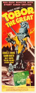 "Movie Posters:Science Fiction, Tobor the Great (Republic, 1954). Insert (14"" X 36"").. ..."