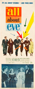 "Movie Posters:Drama, All About Eve (20th Century Fox, 1950). Insert (14"" X 36"").. ..."