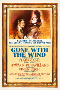 "Gone with the Wind (MGM, 1939). One Sheet (27"" X 41"") Style CF"