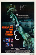 """Movie Posters:Science Fiction, Escape from New York (Avco Embassy, 1981). Autographed One Sheet (27"""" X 41"""") Advance.. ..."""