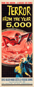 "Movie Posters:Science Fiction, Terror from the Year 5000 (American International, 1958). Insert(14"" X 36"").. ..."