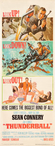 "Movie Posters:James Bond, Thunderball (United Artists, 1965). Insert (14"" X 36"").. ..."