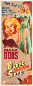 "Movie Posters:Bad Girl, Blonde Sinner (Allied Artists, 1956). Insert (14"" X 36"").. ..."
