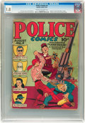 Golden Age (1938-1955):Superhero, Police Comics #1 (Quality, 1941) CGC GD- 1.8 Cream to off-white pages....